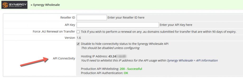 WHMCS Domains Module v1.6 Settings