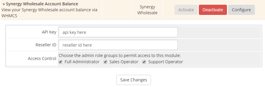 Installing the WHMCS Account Balance module - Synergy Wholesale